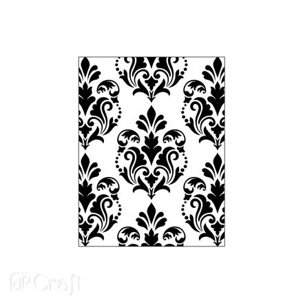 FOLDER DO EMBOSSINGU 2D - DAMASK, 11 CM X 14,5 CM