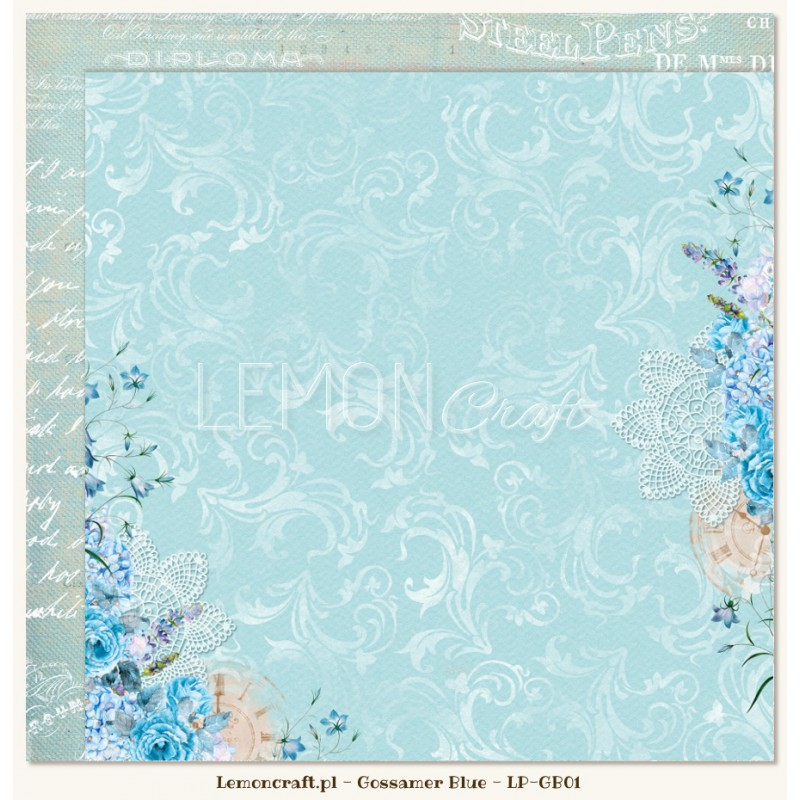 Lemoncraft - Dwustronny papier do scrapbookingu - Gossamer Blue 01[LP-GB01]