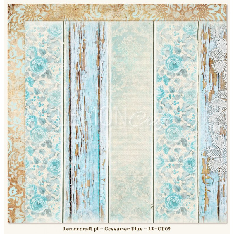 Lemoncraft - Dwustronny papier do scrapbookingu - Gossamer Blue 02[LP-GB02]