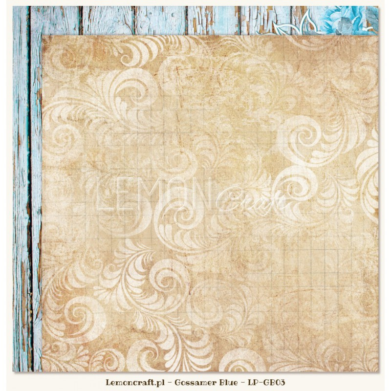 Lemoncraft - Dwustronny papier do scrapbookingu - Gossamer Blue 03[LP-GB03]