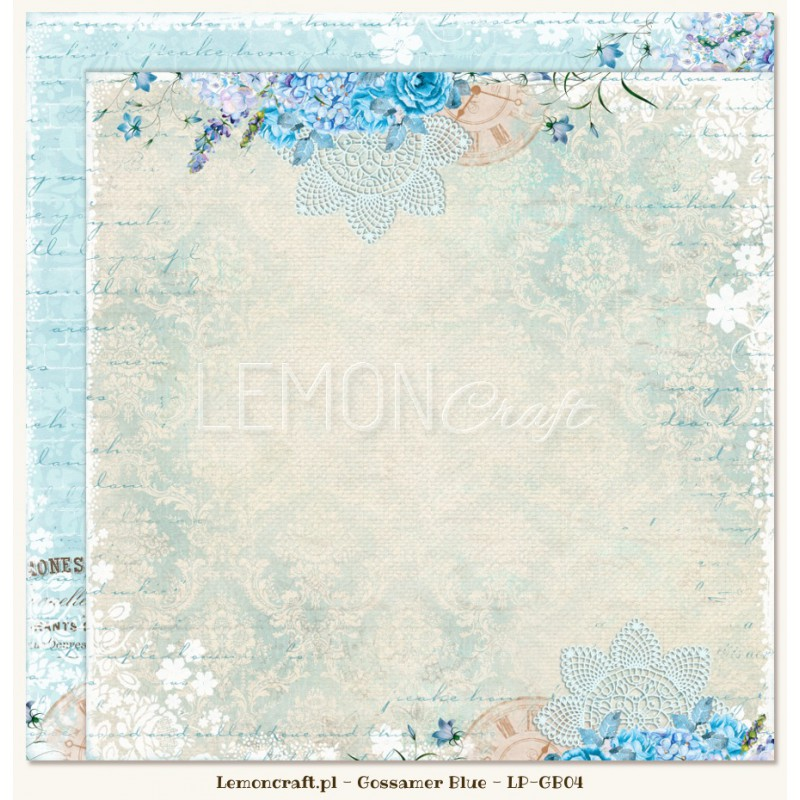 Lemoncraft - Dwustronny papier do scrapbookingu - Gossamer Blue 04[LP-GB04]