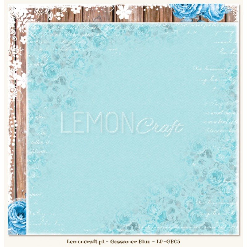 Lemoncraft - Dwustronny papier do scrapbookingu - Gossamer Blue 05[LP-GB05]