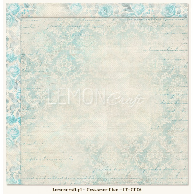 Lemoncraft - Dwustronny papier do scrapbookingu - Gossamer Blue 06[LP-GB06]