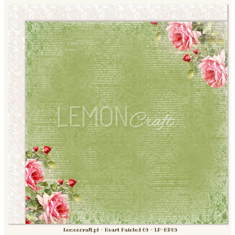 Lemoncraft - Dwustronny papier do scrapbookingu - Sercem Malowane 03[LP-HP03]