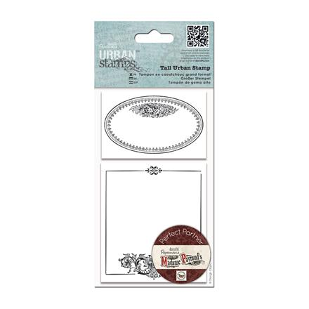 [PMA-907189] STEMPLE GUMOWE - URBAN STAMPS - OVAL FRAME, 2 SZT.