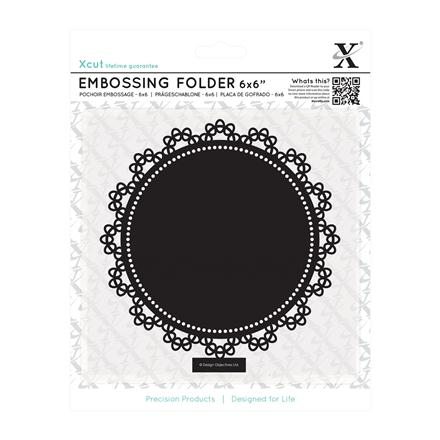 FOLDER DO EMBOSSINGU 15,2 X 15,2 CM - LACE CIRCLE